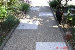 Steinteppich Fliesen Modul Gehweg