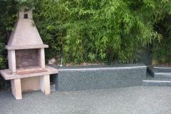 Außenbereich Terrasse Treppe Modul Marmor-Grün