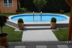 Außenbereich Terrasse Poolumrandung Modul Trendfarbe-Opal