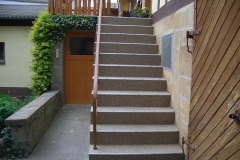 Außenbereich Treppe Natur Dunkel Modul