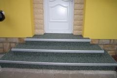 Außenbereich Treppe Marmor Grün Modul