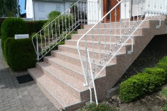 Außenbereich Treppe Marmor Cappuccino Modul