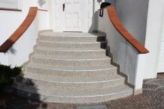 Außenbereich Treppe Trendfarbe Mondstein Modul