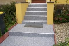 Aussenbereich Treppe Modul Trendfarbe Zink