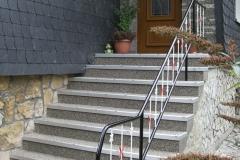 Aussenbereich Treppe Modul Mamor Basalt