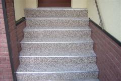 Aussenbereich Treppe Modul Mamor Latte-Macchiatto