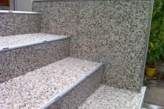 Aussenbereich Treppe Modul Trendfarbe Silber