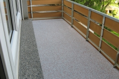 Außenbereich Balkon Modul Trendfarbe-Koralle
