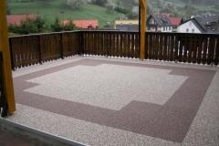 Außenbereich Balkon Modul Marmor-Espresso Marmor-Latte-Macchiato