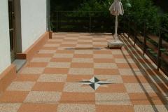 Außenbereich Balkon Modul Marmor-Rot Marmor-Classic