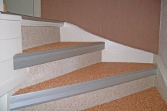 Innenbereich Treppe Flow Modul Marmor-Rot Marmor-Beige