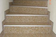 Innenbereich Treppe Flow Modul Marmor-Sonnengelb
