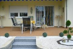 Außenbereich Terrasse Treppe Modul Trendfarbe-Zink Marmor-Cottonline