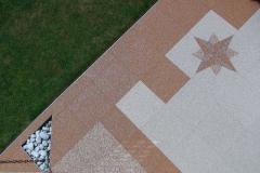 Außenbereich Terrasse Modul Marmor-Rot Marmor-Beige