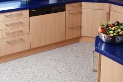 Küche mit Steinteppich Sondermischung