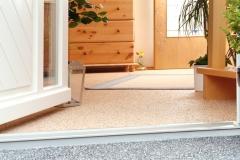 Steinteppich im Innenbereich mit Flow Spachtelung