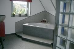 Innenbereich Badezimmer Flow System Marmor Basalt