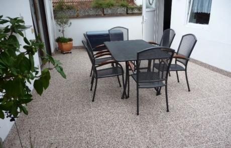 DRAINfloor Terrasse Marmor Latte Macchiato