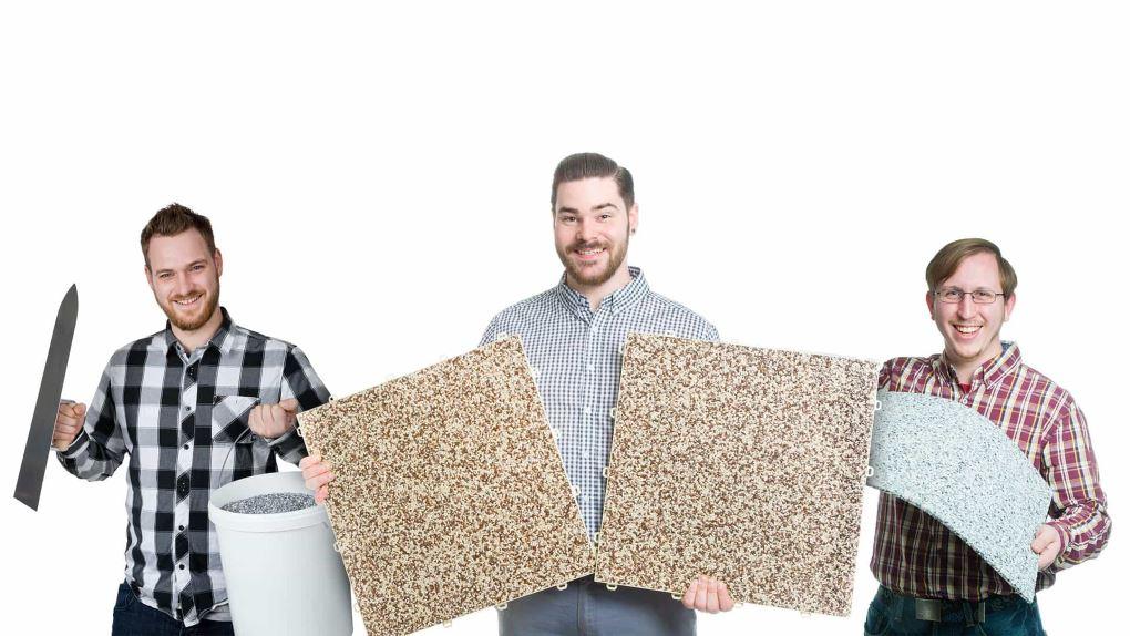 Die innovativen Steinteppich Systeme von RENOfloor