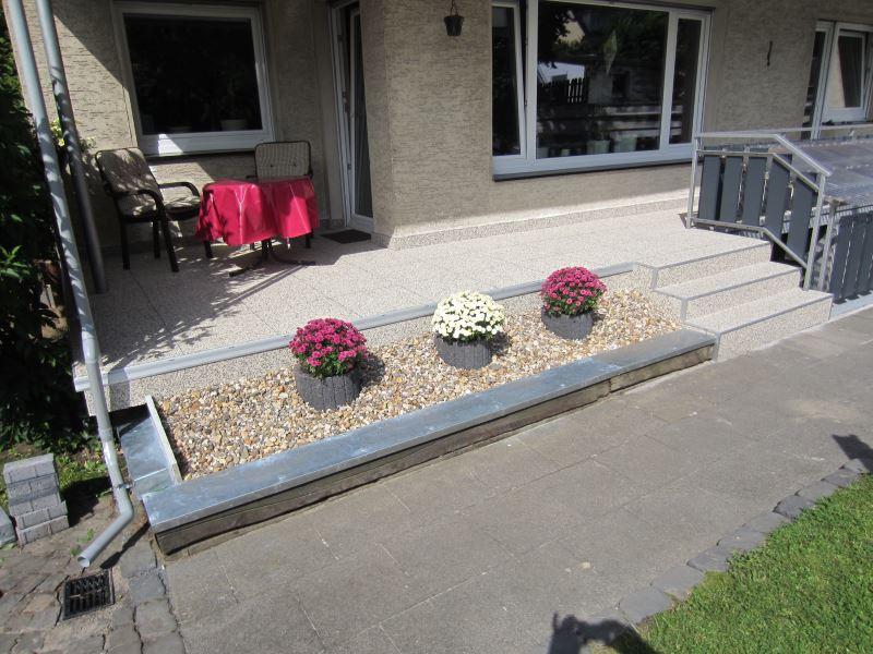 Fertige Steinteppich Terrasse