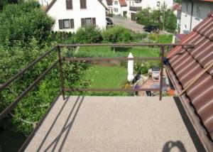 Steinteppich auf Balkon