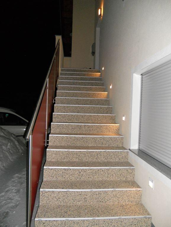 Frostsichere Außentreppe in Tirol